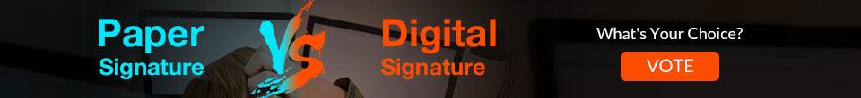 Paper vs Digital Signature